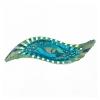 Resin Sew-on Piikki Stones 10pcs 14x47mm Silouhette Turquoise Aurora Borealis